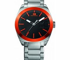 Mens Black and Silver H-0300 Watch