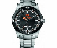 Mens Black and Silver H-2102 Watch