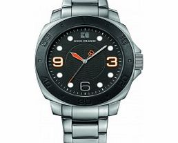 Mens Black and Silver H-2301 Watch