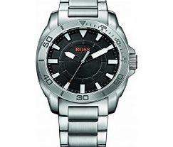 Mens Black and Silver H-7006 Watch