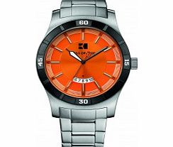 Mens Orange and Silver H-2102 Watch