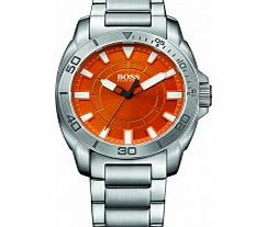 Mens Orange and Silver H-7006 Watch