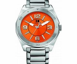 Mens Orange and Silver H-7008 Watch