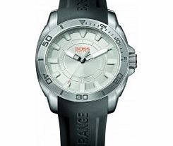 Mens Silver and Black H-7006 Watch