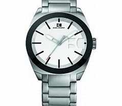 Mens White and Silver H-0300 Watch