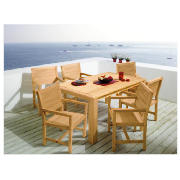 6 Seater Solid Wood Set FSC 160cm