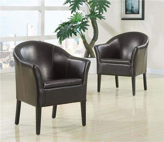 Armchair in Dark Brown Leather