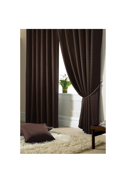 Chocolate - Tape Heading - Lined Curtains