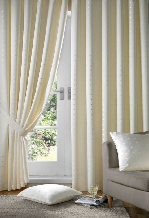Cream - Tape Heading -Lined Curtains