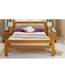 Double Bedstead with Tufted Mattress