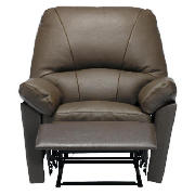 Leather Recliner Chair, Chocolate