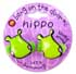 Botd BANG ON THE DOOR MINI HIPPO CUSHIONED PONYTAIL