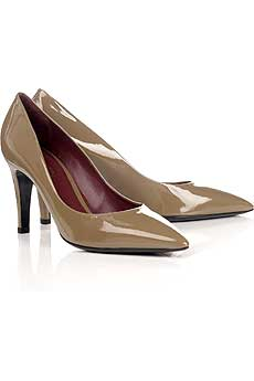 Patent stiletto pumps