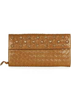 Perforated Leather Continental Wallet