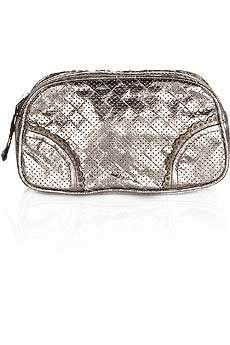 Perforated Leather Cosmetic Case