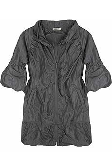Ruched rain coat