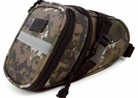 Mountain / Road Bike Wedgie Camo Saddle Bag Case cover With Snap Buckle