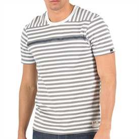 Mens Lahela Stripe T-Shirt White