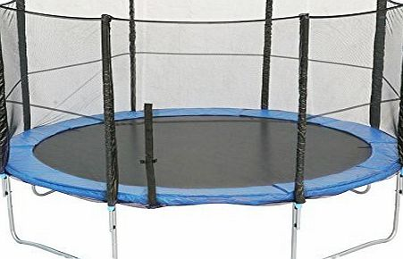 BPS 12FT 366cm 8 poles Safety Net for Trampoline --PE Protective Safety Enclosure Net--Dense Weave Manufacture Net only Without Poles