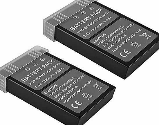 BPS 2x BPS BLS-1 BLS-5 Li-ion Battery for Olympus PS-BLS1 PS-BLS5 Battery,Olympus OM-D E-M10,E-PL1,PEN E-P1, E-P2, E-P3,E-PL3,E-PM1,E-420,E-410,E-450,E-620,E-400 Digital Camera,Olympus Battery Charger BCS