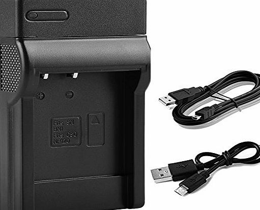 BPS USB Charger for Sony NP-BN1 NP-BN Li-ion Battery,Sony Cyber-Shot DSC-W800,DSC-WX220,DSC-W830,DSC-W810,DSC-W800,DSC-QX30,DSC-QX100,DSC-QX10 Digital Camera,replacement for Sony Battery Charger BC-TR