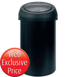50L Black and#38; Black Touch Bin