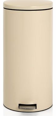Pedal Bin 30-Litre with Plastic Inner Bucket, Almond