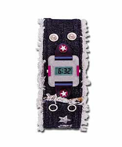 Girls Denim Strap Watch