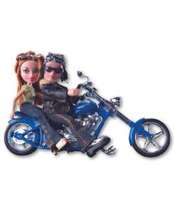 Motorcycle Style with 2 Dolls
