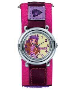 Yasmin Purple Velcro Strap Watch