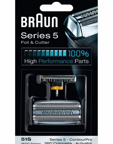 Braun 51S Replacement Foil and Cutter Cassette Multi Silver BLS Combi Pack