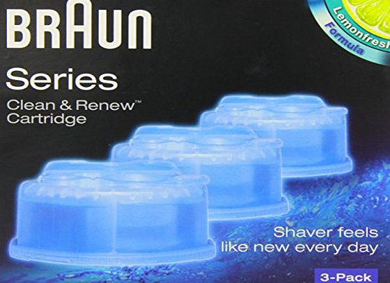 Braun Clean amp; Renew CCR3 Electric Shaver Refill Cartridges - Pack of 3