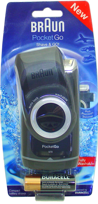 Pocket Go M90 Washable Battery Travel Shaver