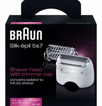 Braun SE721 Silk Epil Shaver Head and Trimmer Cap