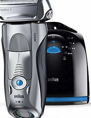 Braun Series 7 790cc-4 Mens Electric Foil Shaver with Clean and Charge Station Rechargeable and Cordless Razor