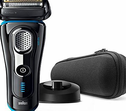 Braun Series 9 9240s Mens Electric Foil Shaver, Wet and Dry, Rechargeable and Cordless Razor with Pop Up Trimmer - Black