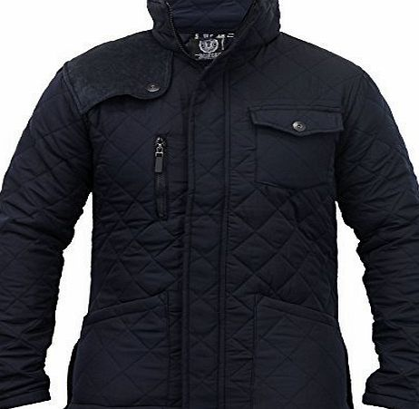 Brave Soul Mens Jacket Soul Star PCORD13 Navy Large