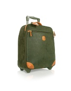 Life - Olive Micro-Suede and Leather Wheeled Upright