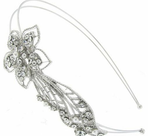 Romantic Vintage Floral Design Hair Band BHB95 - Hair Accessory - Free Gift Pouch / Box