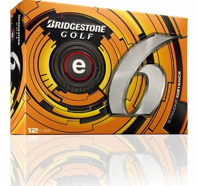 2013 Bridgestone e6 Golf Balls - Box of a Dozen / 12 White / Yellow *ULTRASOFT*-White