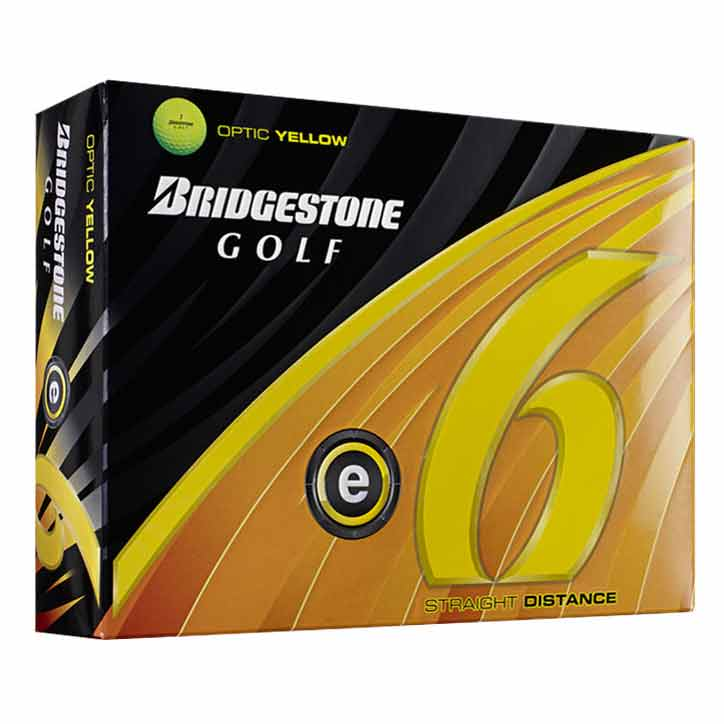 E6 Yellow Golf Balls 12 Pack - 2011