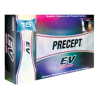 Precept EV White Golf Balls (15 Balls)
