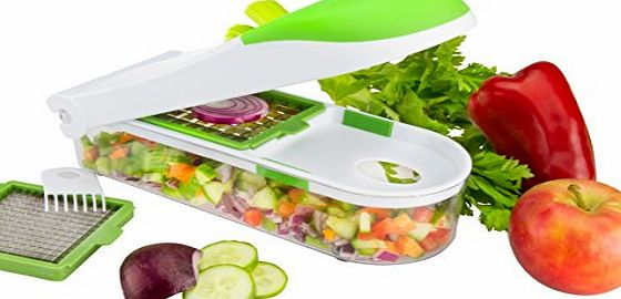 Brieftons QuickPush Food Chopper: Onion Chopper, Vegetable Slicer, Fruit and Cheese Cutter