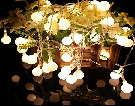 Bright B-right 4.5m/ 14.8ft 40 Leds Fairy Lights, String Light with Warm White Ball for Christmas, Wedding, Valentines Day, Holidays, Celebrations, Party, Games Decoration (40 leds globe string lights)