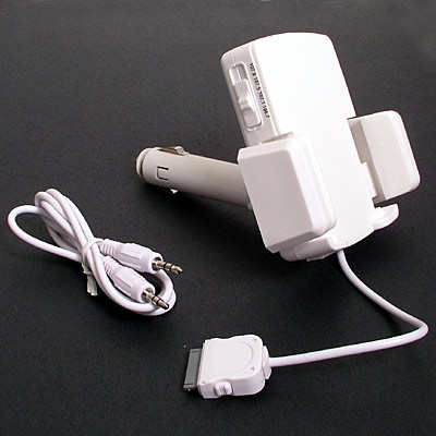 Brilliant Buy iPod 3 in 1 car kit (White) for ipod nano and