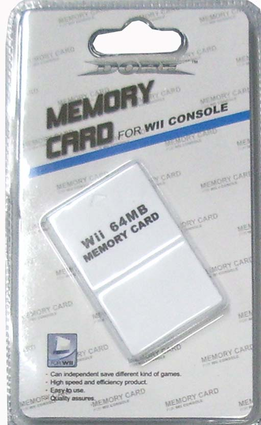 Wii 64mb memory card for Nintendo wii