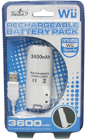 Wii Rechargeable Battery Pack 3600mAH