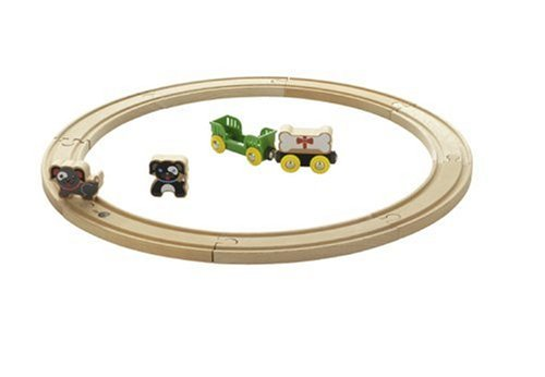 33002 Wooden Railway Dog Circle Set