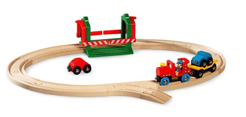 33003 Wooden Railway System: Car Transporter Set