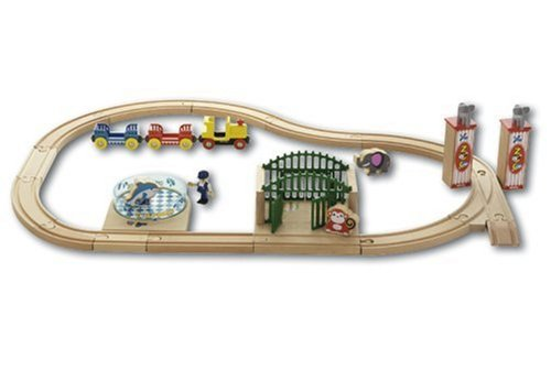 33008 Wooden Railway Zoo Garden Set